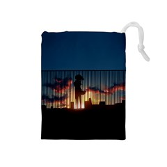 Art Sunset Anime Afternoon Drawstring Pouches (medium)