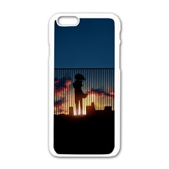Art Sunset Anime Afternoon Apple Iphone 6/6s White Enamel Case