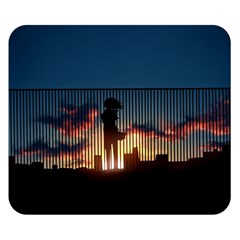 Art Sunset Anime Afternoon Double Sided Flano Blanket (Small)