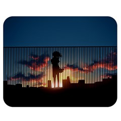 Art Sunset Anime Afternoon Double Sided Flano Blanket (medium)