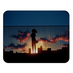 Art Sunset Anime Afternoon Double Sided Flano Blanket (large)