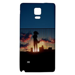 Art Sunset Anime Afternoon Galaxy Note 4 Back Case