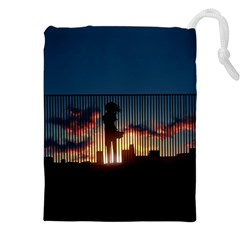 Art Sunset Anime Afternoon Drawstring Pouches (xxl)