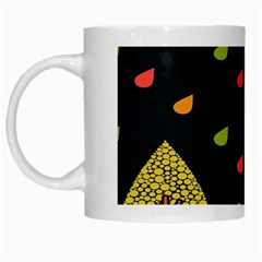 Vector Color Tree White Mugs