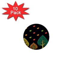 Vector Color Tree 1  Mini Buttons (10 pack)