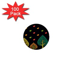 Vector Color Tree 1  Mini Buttons (100 Pack)