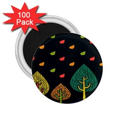 Vector Color Tree 2 25  Magnets (100 Pack)
