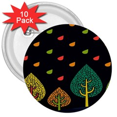 Vector Color Tree 3  Buttons (10 Pack)