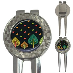 Vector Color Tree 3 In 1 Golf Divots