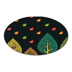 Vector Color Tree Oval Magnet