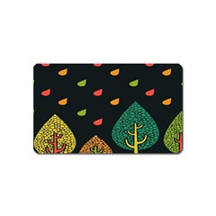 Vector Color Tree Magnet (Name Card)