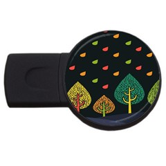 Vector Color Tree USB Flash Drive Round (2 GB)