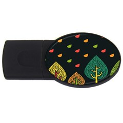 Vector Color Tree Usb Flash Drive Oval (2 Gb)