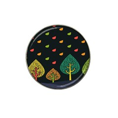 Vector Color Tree Hat Clip Ball Marker (4 Pack)