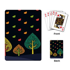 Vector Color Tree Playing Card