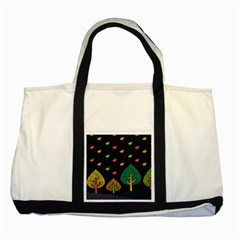 Vector Color Tree Two Tone Tote Bag