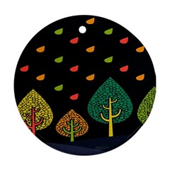 Vector Color Tree Round Ornament (two Sides)