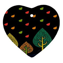 Vector Color Tree Heart Ornament (Two Sides)