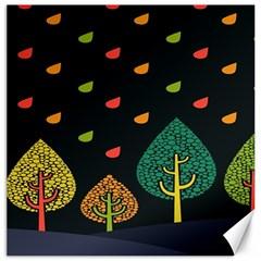 Vector Color Tree Canvas 20  x 20