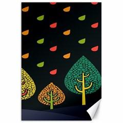 Vector Color Tree Canvas 20  X 30
