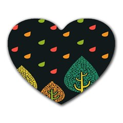 Vector Color Tree Heart Mousepads