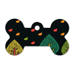 Vector Color Tree Dog Tag Bone (one Side)