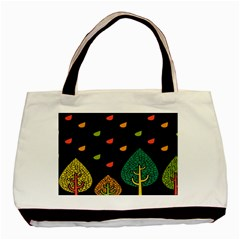 Vector Color Tree Basic Tote Bag (Two Sides)