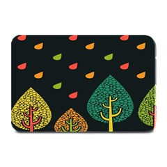 Vector Color Tree Plate Mats