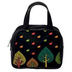 Vector Color Tree Classic Handbags (One Side)