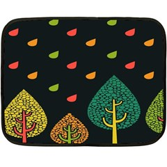 Vector Color Tree Double Sided Fleece Blanket (mini)