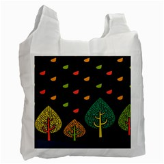 Vector Color Tree Recycle Bag (one Side)