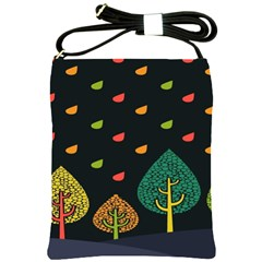 Vector Color Tree Shoulder Sling Bags