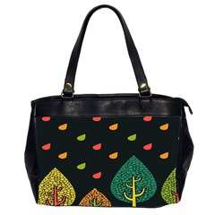 Vector Color Tree Office Handbags (2 Sides)