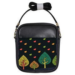 Vector Color Tree Girls Sling Bags