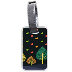 Vector Color Tree Luggage Tags (One Side)