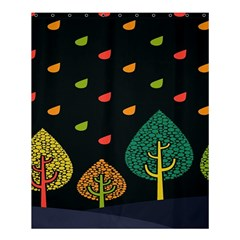 Vector Color Tree Shower Curtain 60  x 72  (Medium)