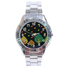 Vector Color Tree Stainless Steel Analogue Watch