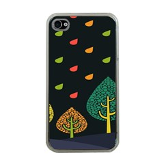 Vector Color Tree Apple iPhone 4 Case (Clear)