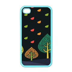 Vector Color Tree Apple iPhone 4 Case (Color)