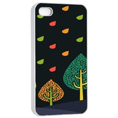 Vector Color Tree Apple Iphone 4/4s Seamless Case (white)