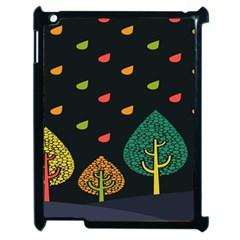Vector Color Tree Apple iPad 2 Case (Black)