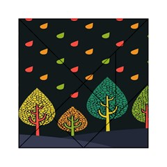Vector Color Tree Acrylic Tangram Puzzle (6  x 6 )