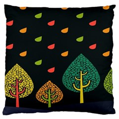 Vector Color Tree Large Cushion Case (One Side)