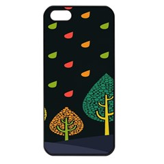 Vector Color Tree Apple iPhone 5 Seamless Case (Black)