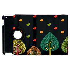 Vector Color Tree Apple Ipad 2 Flip 360 Case