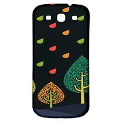 Vector Color Tree Samsung Galaxy S3 S III Classic Hardshell Back Case