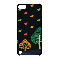 Vector Color Tree Apple Ipod Touch 5 Hardshell Case With Stand