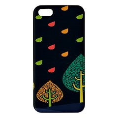 Vector Color Tree Apple Iphone 5 Premium Hardshell Case
