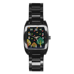 Vector Color Tree Stainless Steel Barrel Watch