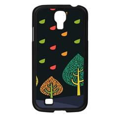 Vector Color Tree Samsung Galaxy S4 I9500/ I9505 Case (black)